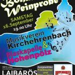 Plakat Weinprobe 2017